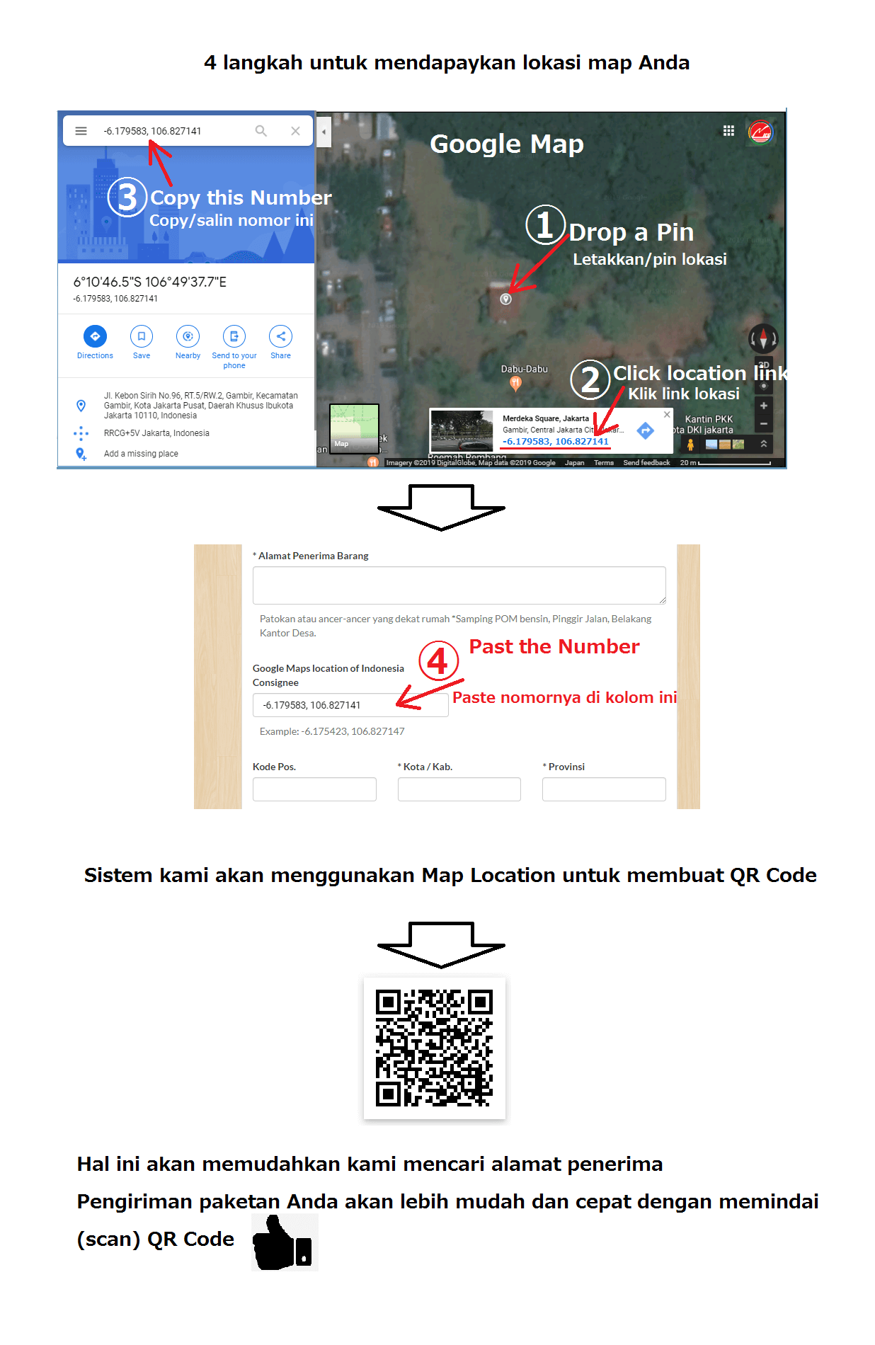 Nice Indonesia Cargo Google Maps Coordinates Instructions
